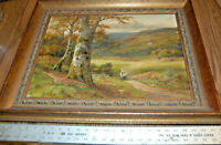 George Turner Original Oil Painting By the Woodside to Betws-y-Coed Signed TWICE