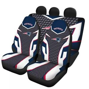 New England Patriots 5 Seat Car Seat Cover Universal Truck Cushion Protector