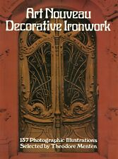 Art Nouveau Decorative Architectural Ironwork Iron Work / Illustrated Book