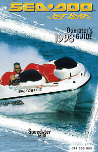 Sea-Doo Speedster 1600, 1998 Owners Manual Paperback Free Shipping