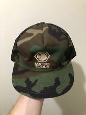 Vintage 70s 80s Matco Tools Camo Mesh Snapback Trucker Hat Cap USA RARE