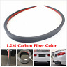 Carbon Fiber Look Car Rear Roof Trunk Spoiler Rear Wing Lip Trim Sticker 120cm