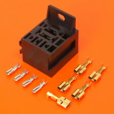 High Quality Relay Base Holder for 4, 5 & 9 Pin Flasher Unit Kit - 2.8mm 6.3mm