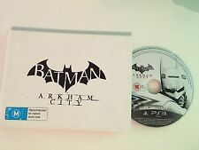 Batman Arkham City PS3 Game Collectord Edition Artbook **Rare**