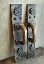 Vintage door handles. Antique doorknob. Antique bronze. Antique brass. Russia.