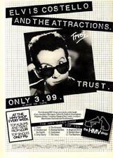 "31/1/81Pgn10 Advert: Elvis Costello The Album 'trust' Only At Hmv 15x11"""