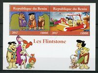 Benin 2017 CTO The Flintstones 2v M/S I Hanna-Barbera Cartoons Stamps