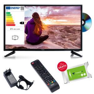 Camping TV Xoro HTC 2449 24 Zoll LED DVD Laufwerk USB SAT DVB-T2 12V u 230V LCD