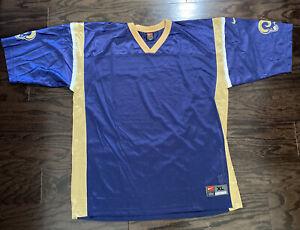 Vintage Blank Team Nike St Louis Los Angeles Rams NFL Football Jersey Men XL Vtg