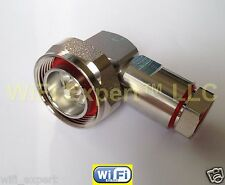 """7/16 DIN Right Angle male plug clamp for 1/2"""" S corrugated cable connector USA"""