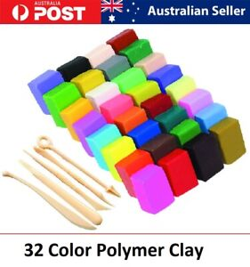 32 Color  Polymer Clay Modelling Moulding Sculpey Oven Block DIY Toys