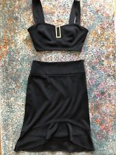 Marciano Crop Top Bustier Black Pencil Skirt Small Medium Set