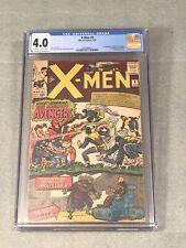 Silver Age Xmen #9 1965 CGC 4.0 Huge Key 1st Meeting With Avengers MCU