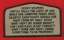 SCOUT VESPERS CSP OA FLAP Patch BSA Cub Boy Scouts of America 2018 NOAC