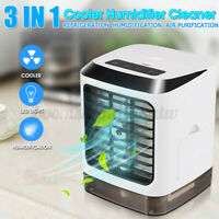 3 IN 1 Portable USB Mini Air Conditioner Cool Cooling Desktop Cooler Fan 480ml