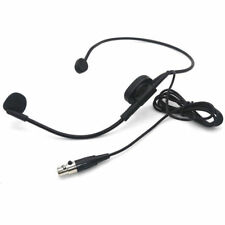 Condenser XLR 4-pin Head Headworn Headset Microphone for Shure Wireless System