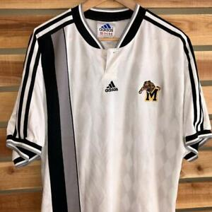 Rare VTG 90s Adidas White Missouri Tigers College University Soccer Jersey XL