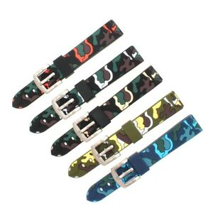 16mm 18mm 20mm 22mm Silicone Watch Band Watch Strap Band Buckle and Bars BD6