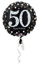 "50th Birthday Decorations Party Supplies 50 yrs old Mylar 18"" Balloon Sparkling"