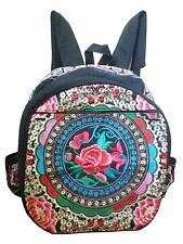 Damen Rucksack hand bestickt Hmong Thailand Blüte n Blume n Muster Hippie 32040