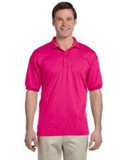 NWOT  5XL  Heliconia Pink Gildan G880 pique polo sport shirt  Ultra Blend G8800