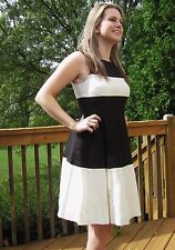 Kate Spade Le Dress Fit N Flare Timeless Starlet Black White Size 2