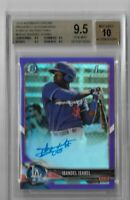 2018 bowman chrome prospect auto CPA-II Ibandel Isabel Purple Refractor BGS 9.5