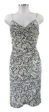 Mara Hoffman Kleid S 36 weiß schwarz Seide Trägerkleid silk dress robe top
