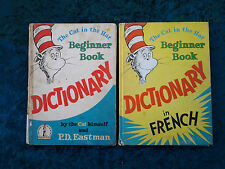 2 x The Cat in the Hat Beginner Dictionary's, (1French,1English) by PD Eastman.