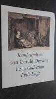 Folleto Rembrandt Son Círculo Dibujos Colección Patatas Lugt 2011 Tbe