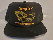 Vintage Caterpillar CAT Truckers Cap Hat 300Family Excavators USA Embroidered