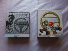 Club Nintendo Gold Mario & Metal Mario Kart 8 Wheel Handle Set Japan Boxed