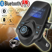 Bluetooth Car Kit MP3 Player FM Transmitter Wireless Radio Adapter USB Ladegerät