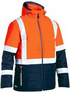 Bisley Workwear Taped Two Tone Hi Vis Puffer Jacket (BJ6929HT)