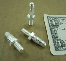 "10 Tyco / Amp Silver Plated 1/4"" Pins w/ Spring Bands M6 x 1.0 Threads 194192-1"