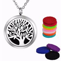 Tree of Life Aromatherapy Essential Oil/Perfume Diffuser Locket Pendant Necklace