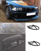 BMW E46 2dr & M3 coupe cabrio pair left right headlight headlamp lenses gaskets.