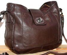 White Stuff Leather Boho/Hobo Bucket Satchel/Messenger/Shoulder Bag/Purse