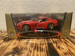 Burago 1:18 scale Diecast dodge viper GTS coupe 1997