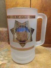 Funny! Large Beer Mug 'California Dept Alcoholic Beverage Control Frosted Glass