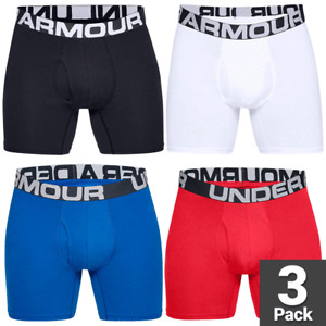 """UNDER ARMOUR Boxerjock® MENS CHARGED COTTON 6"""" BOXER SHORTS ALL COLOURS / 3 PACK"""