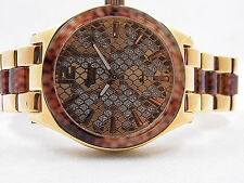 Alexandre Christie 2401LHBRGSL Ladies Rose Gold Tone With Brown Fiber Watch