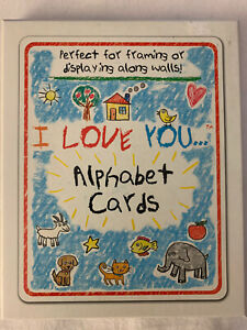 """I Love You...Alphabet Cards 8"""" x 10"""" Wall Hanging Frame Pictures"""