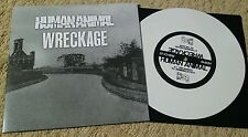 "HUMAN ANIMAL / WRECKAGE SPLIT 7"" WHITE WAX (200 PRESS) SXE NYHC BURIED ALIVE"