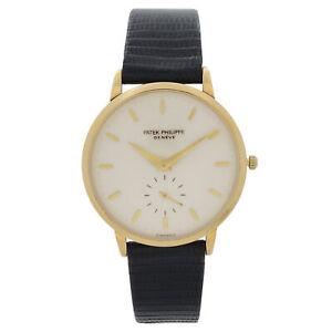 Patek Philippe Calatrava 18k Yellow Gold Cream Dial Mens Automatic Watch 3893J