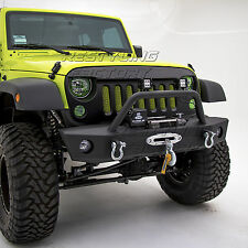 JK Front Bumper with OE Fog Light holes & Winch Plate for 07-17 Jeep Wrangler