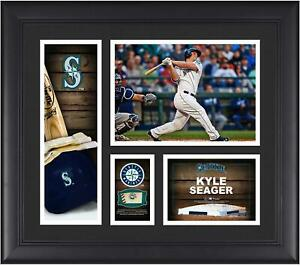 Kyle Seager Seattle Mariners Framed 15x17 Collage w/ Piece of G-U Ball