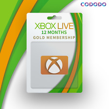 12 Months XBOX LIVE GOLD Membership For XBOX 360 & XBOX ONE - BRAZIL VPN