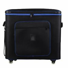 FLIGHT CASE WITH WHEELS PORTABLE STUDIO BAG 77CMX 31CM X 59CM 4 LIGHT BANKS 4 PR