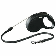 New Flexi Classic Cord  Retractable Dog Lead   8M  SMALL  BLACK